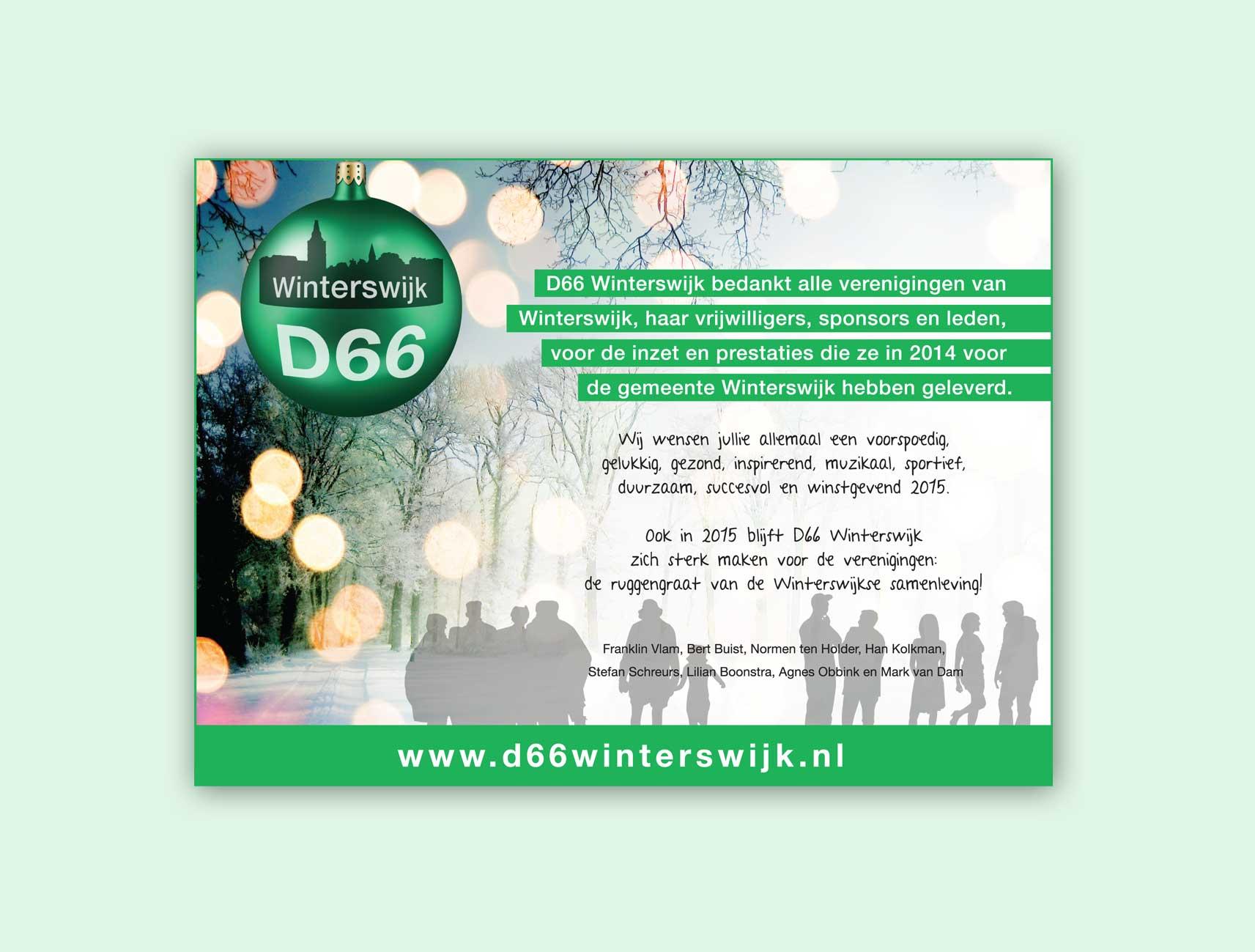 D66 – kerstadvertentie