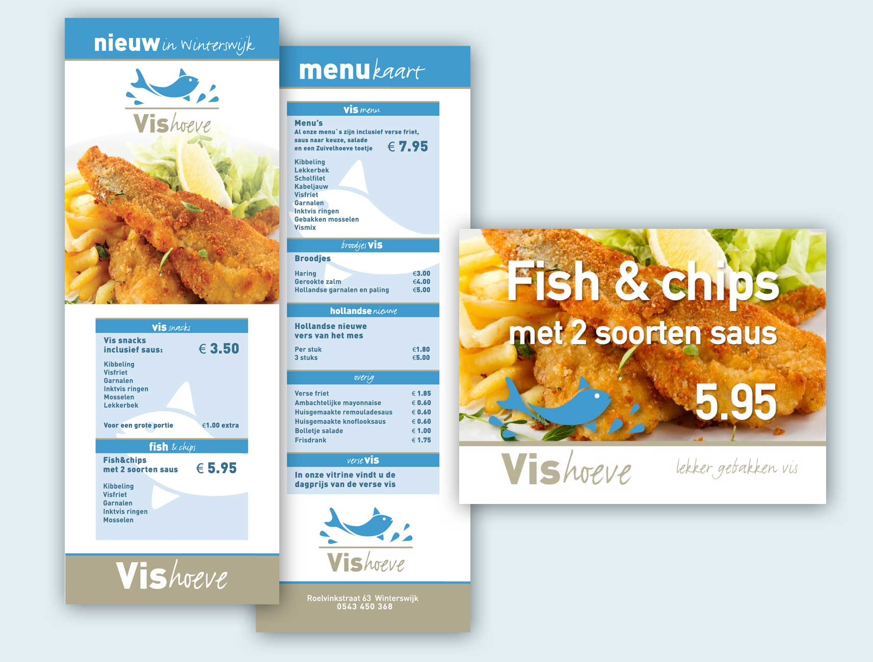 Vishoeve menukaart