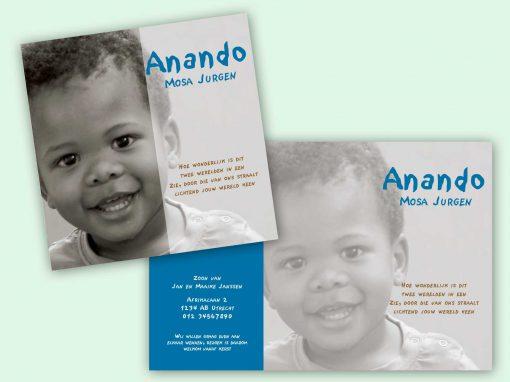 Adoptiekaart Afrika halve flap