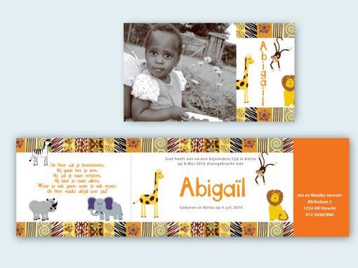 Adoptiekaart Afrika dubbele flap