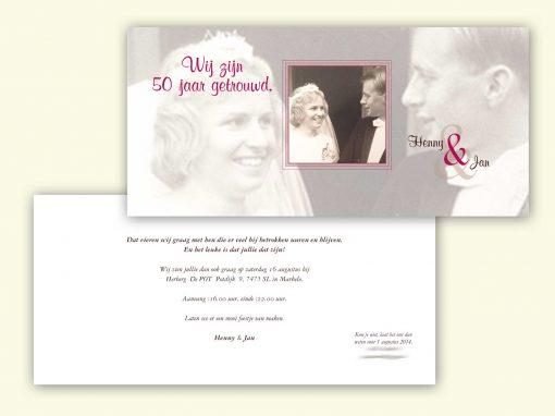 Huwelijkskaart 50 jaar