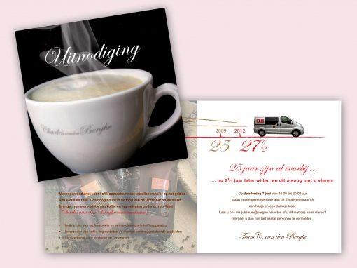 Uitnodigingskaart Berghe Koffie&meer