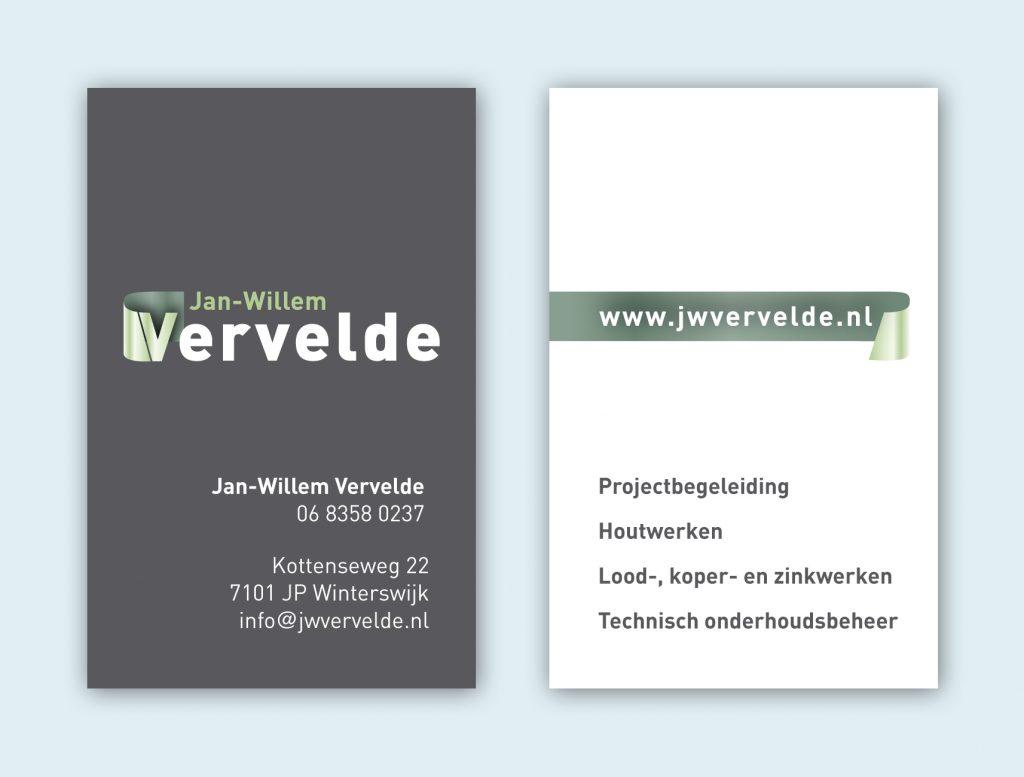 ontwerp visitekaart JW Vervelde