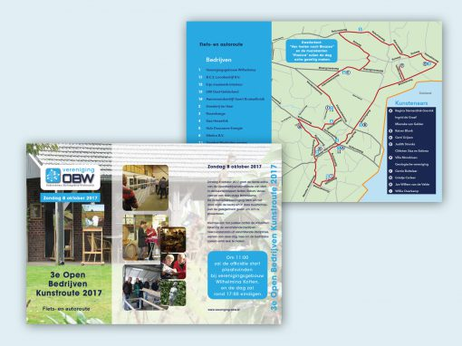 OBW- open bedrijven kunstroute – folder