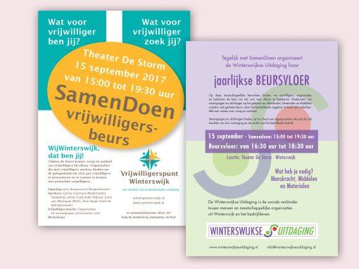Flyer WWUitdaging en Vrijwilligerspunt, Samendoen beursvloer