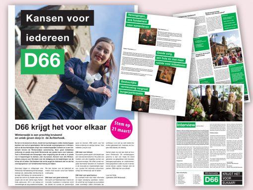 D66 Winterswijk verkiezingsbijlage krant
