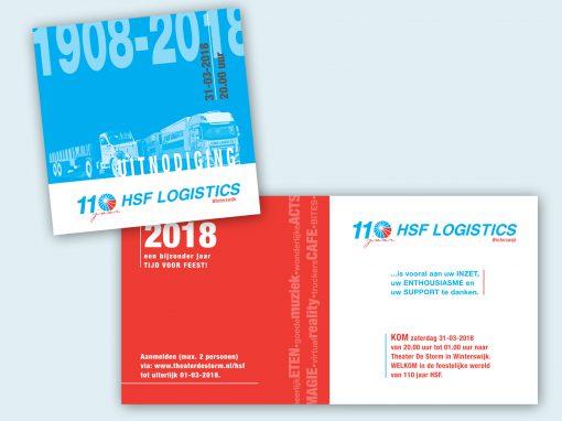 Uitnodiging Jubileum HSF Logistics
