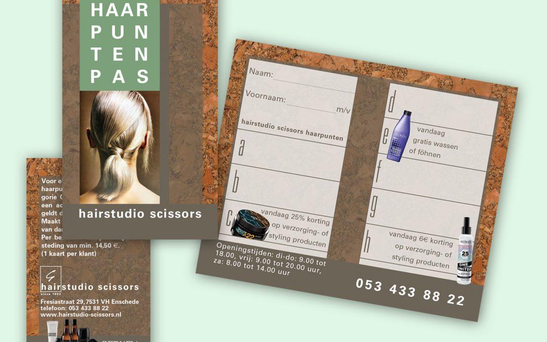 Hairstudio Scissors stempelkaart