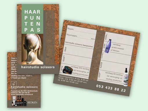 Hairstudio Scissors stempelkaart