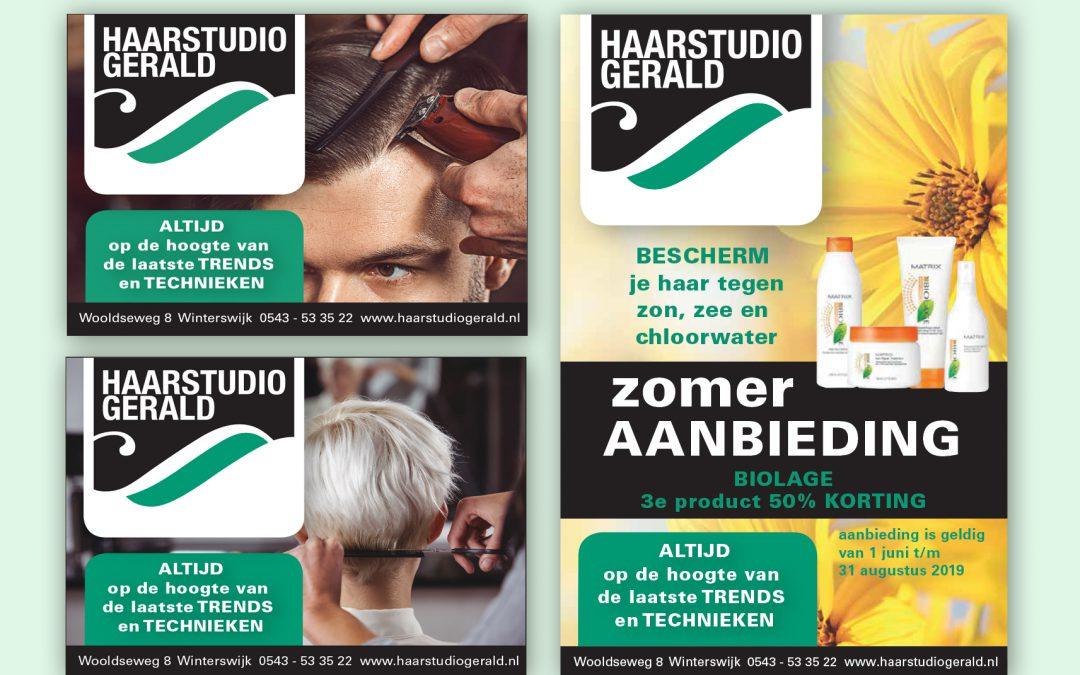 Haarstudio Gerald advertentie-ontwerp