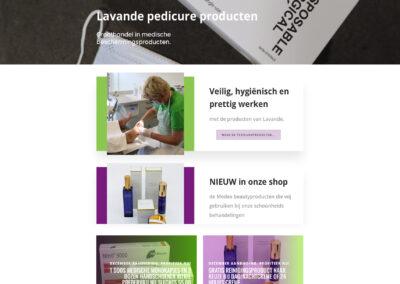 Lavandepedicureproducten webshop ontwerp en ontwikkeling, fotografie