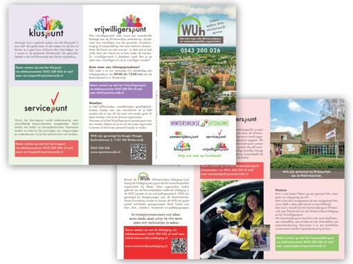 Stichting de Winterswijkse Uitdaging, de WUh en Vrijwilligerspunt folder ontwerp