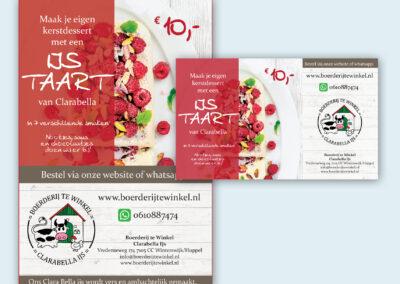 Clarabella IJs advertentie voor krant en social media