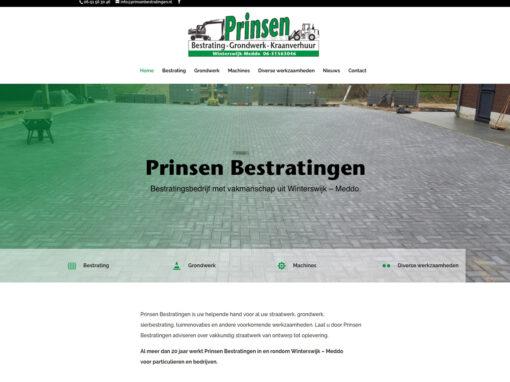 Prinsen Bestratingen nieuwe website en kleine opfrisbeurt van bestaand logo