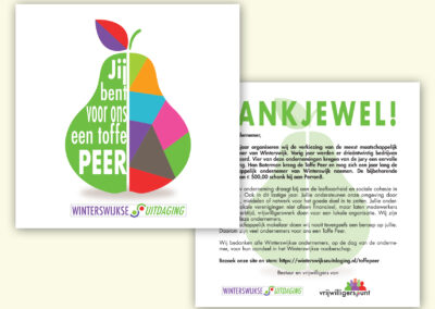 Toffe peer kaart Winterswijkse Uitdaging